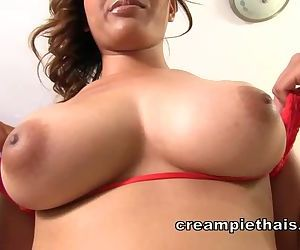 Big natural titty Thai..