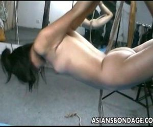Asian lass is hanging..