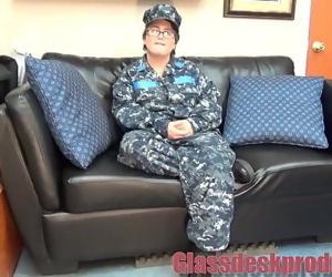 Navy girl takes it in..