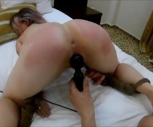 Hard spanking with..