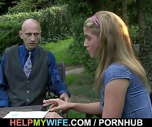 He pounds hot wife from..