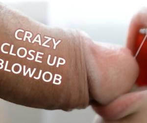 CRAZY CLOSE UP BLOWJOB