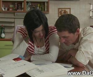 Schoolgirl creampied..