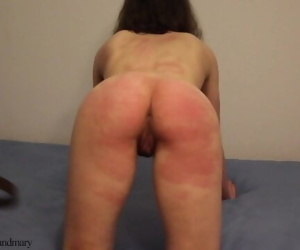 Trembling ass spanked..