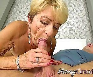 Chubby grandma jizzed..