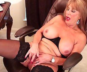 Slutty blonde Rae Hart..