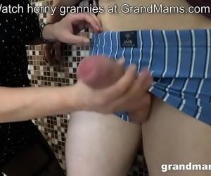 Horny mom sucks..