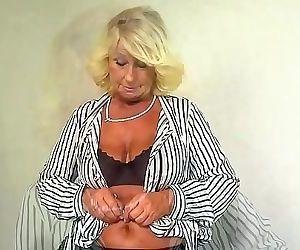 Horny Blonde Granny..