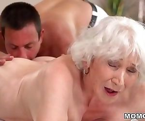 Old mom Norma enjoys..