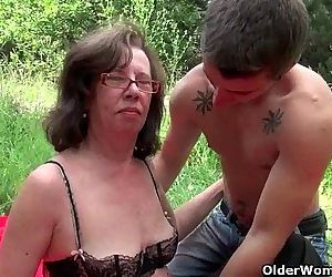 Granny gets her asshole..