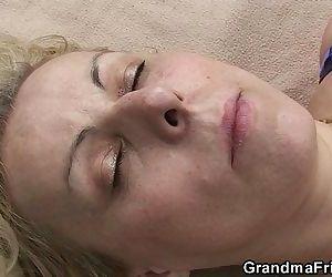 Blonde old women..