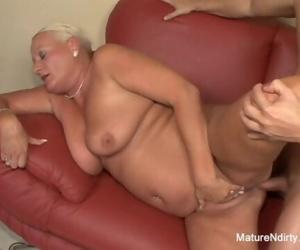 Busty blonde grandma..