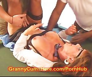 Old GRANNY turns SLUT..