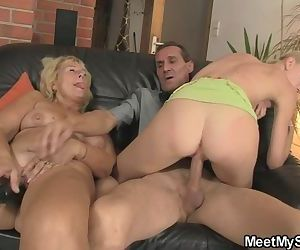 Threesome with her BF\'s..