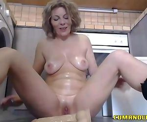Mature GILF Plays with..