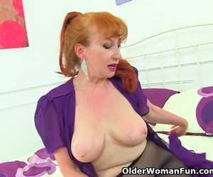 English milf Red takes..