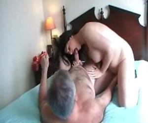Angel fucks hotel manager