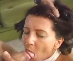 Granny fucked by young..