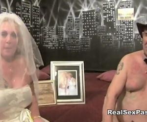 Old fat filthy bride..