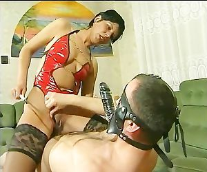 Mistress rides her..