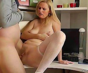Mom alone at HomeFuck..