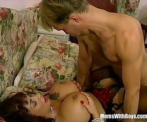 MILF Brunette With..