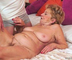 Kinky old granny Malya..