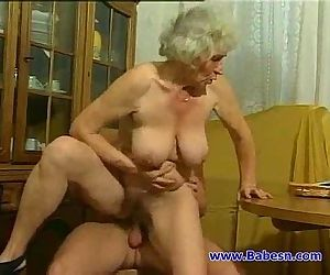 Granny fuck with young..