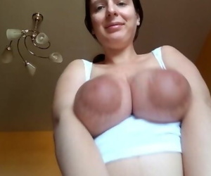 Tits play with cum on..