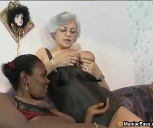 Interracial mature..