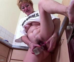 Old bitch fucks her..
