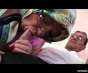 Busty granny and hot..