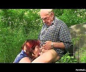 Granny and Grandpa fuck..