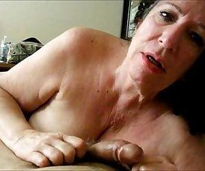 Brunette Granny Sucks..
