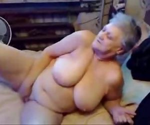 Nasty grandma fingering..