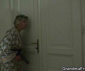 Mature lady is slammed..