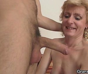 Cute mature lady and..