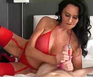 ov40-Brunette pornstar..