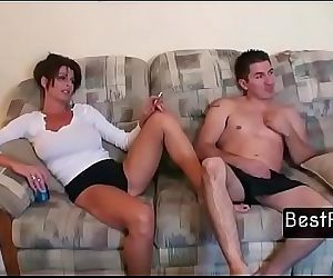 Son catches hot Mom..