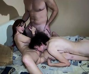 Threesome, old mature..