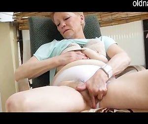 old granny masturbation..
