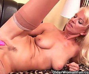 Granny In Stockings..