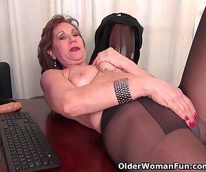 Office granny in..