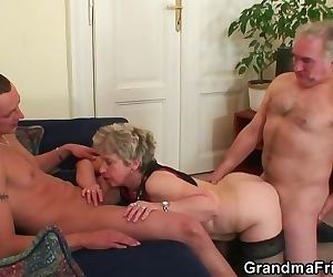 Hot threesome orgy..