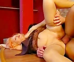 Redhead Granny Gets Her..