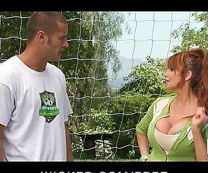 Big-tit British redhead..