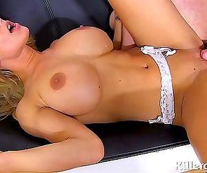Hot blonde big boobs..