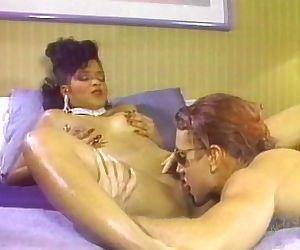 Hot busty black chick &..