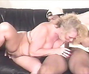 Blonde Mature On Couch..