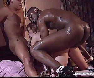 Interracial Threesome..